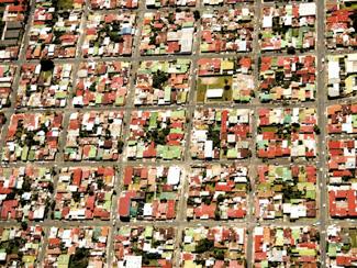 Urban sprawl.