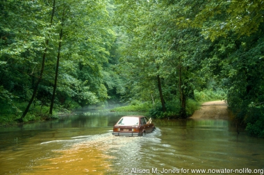 Driving through flooded backwaters in '93