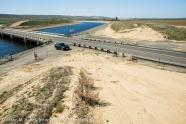 USA: San Joaquin River Valley, California Aqueduct