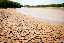 Africa: Kenya; Lodwar, Turkwel River tributary, almost dry due to upstream irrigation extraction and climate change