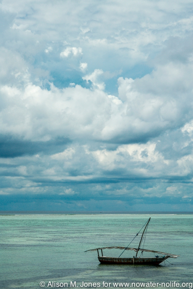Tanzania:  Zanzibar, Indian Ocean and local fishing boat