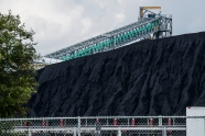 USA: Louisiana, New Orleans, Lower Mississippi River Basin, Gulf Coast, Mississippi River Delta, Kinder Morgan's coal, to be transferred to ships going to international destinations