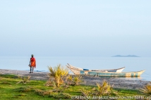 Africa: Kenya; Eliye Springs on Lake Turkana, sunrise