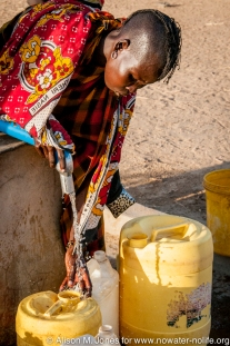 Africa: Kenya; Eliye Springs, water pump built in '92 for traditional Turkana village