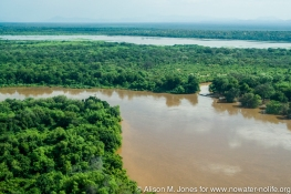 Ethiopia: aerials of Lower Omo River Basin in flood stage