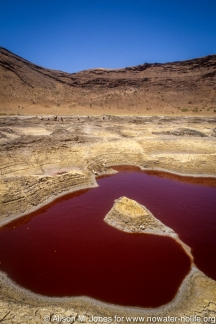 Kenya: Magado Crater, site of salt wells maintained by Meru people