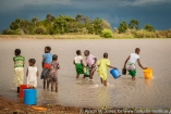 Tanzania: No Water No Life Mara River Expedition, Masarua Dam water catchment, women and children collecting water