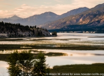 Canada: British Columbia, Columbia River Basin, Kootenay Rockies, Rocky Mountain Trench, Canal Flats, wetlands at southern end of north-flowing Columbia Lake (source of Columbia River)