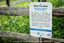USA: New Jersey, Upper Raritan River Basin, Upper Raritan Watershed Association (URWA) BioBlitz on May 21, 2011, sign for rain garden