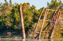 USA: Louisiana, the Atchafalaya Basin, with C. C. Lockwood, Atchafalaya River, old abandoned dock of oil processing company